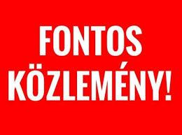 FONTOS KÖZLEMÉNY